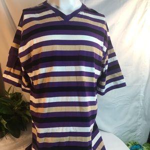 King maker mens 4X purple black polo golf shirt